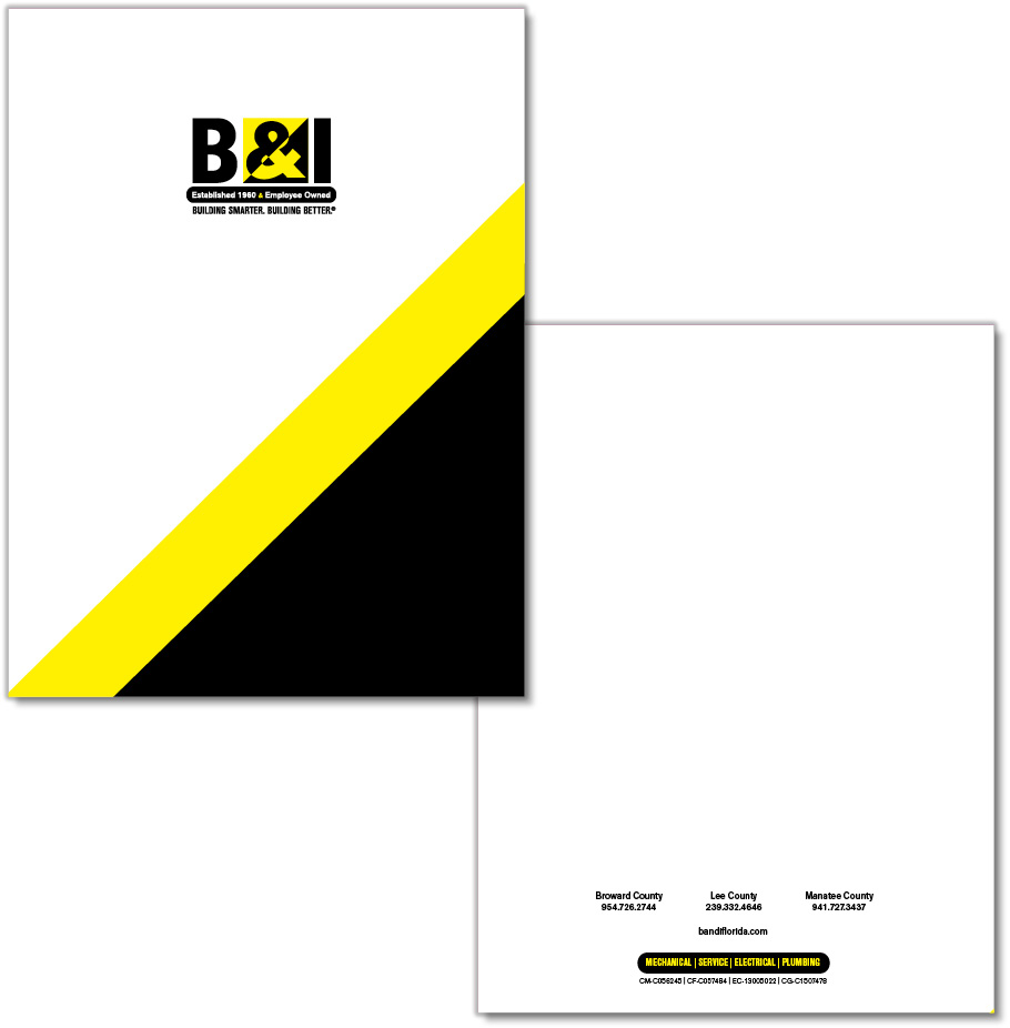 B&I Pocket Folder Design