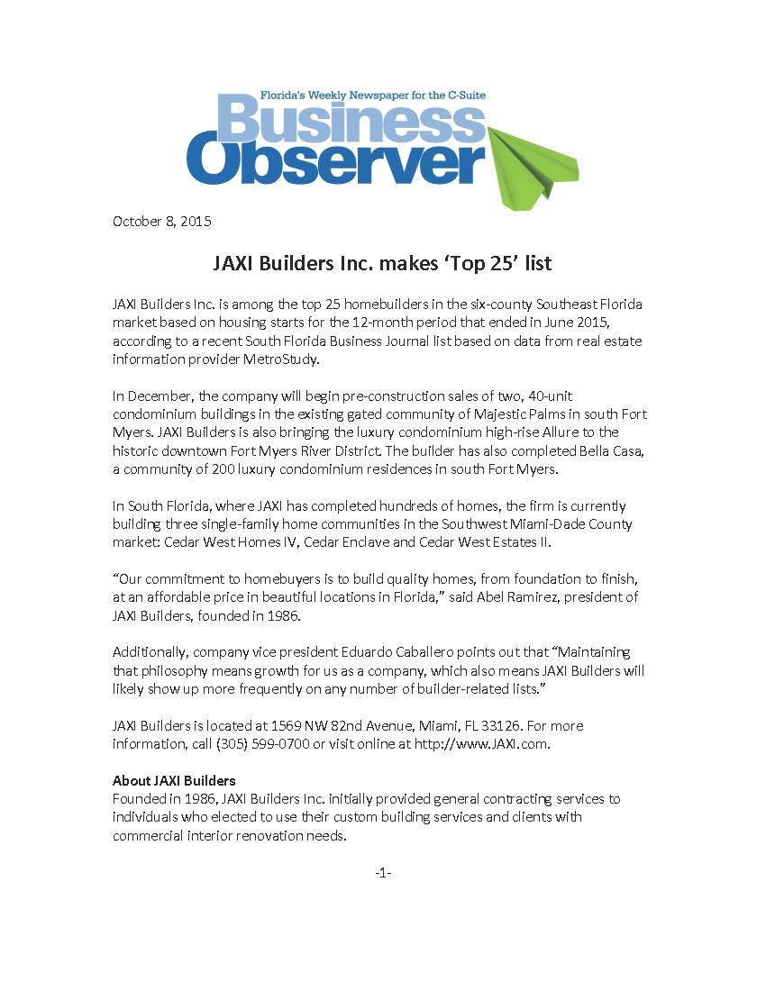 Business Observer - JAXI Top 25 - Oct 8, 2015_Page_1