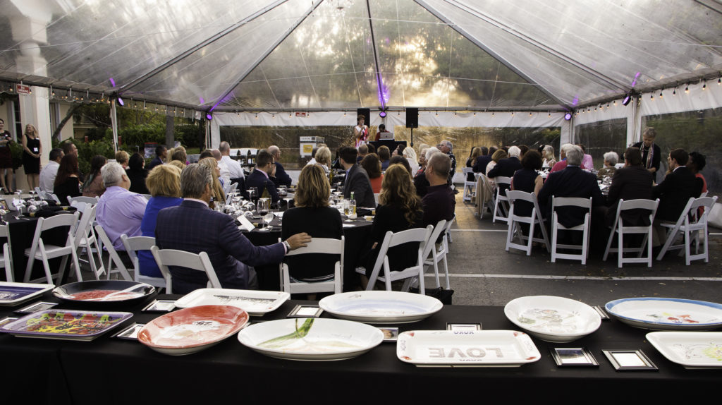 eat clay love event tent