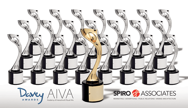 Academy of Interactive & Visual Arts presents Spiro & Associates with 23 International Davey Awards