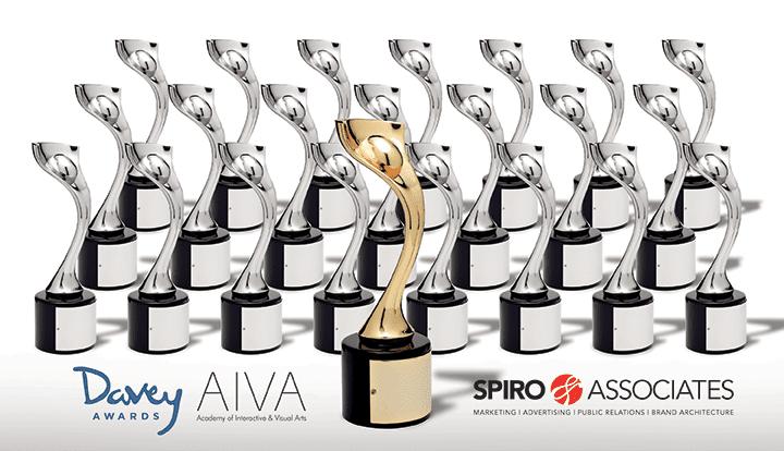 Academy of Interactive & Visual Arts presents Spiro & Associates with 23 International Davey Awards