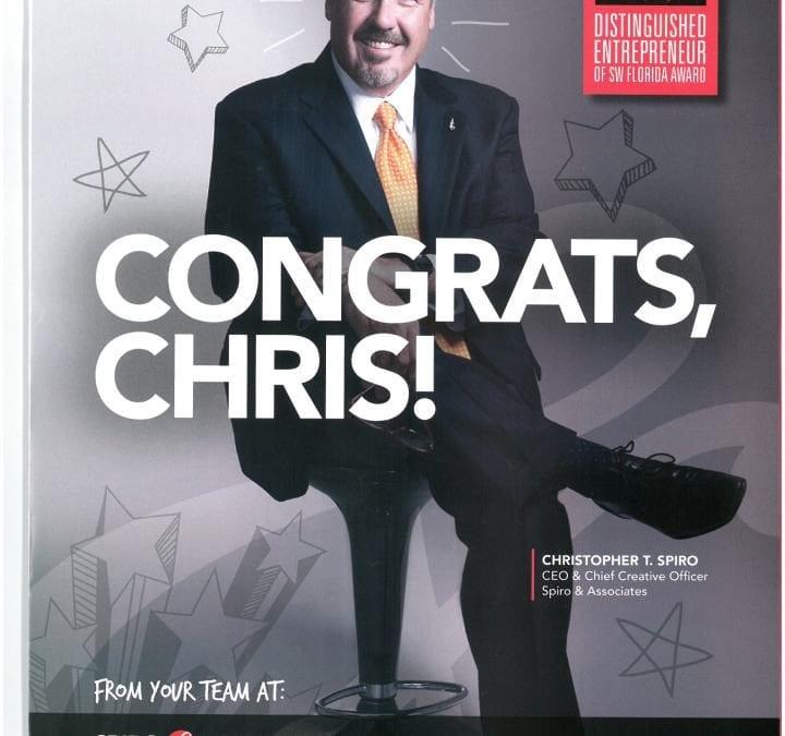 'Distinguished Entrepreneur' Winner Chris Spiro in Gulfshore Business Magazine