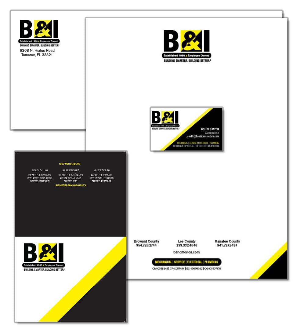 B & I Stationery Package